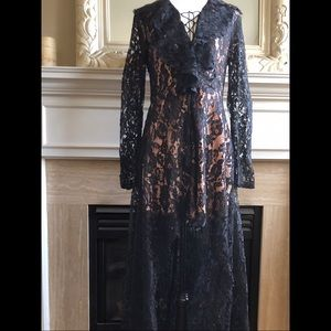 DO+BE Lace Hi-Low Lace Illusion Dress - NWT